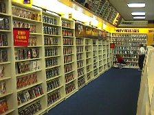 Blockbuster Movie Rental Aisle